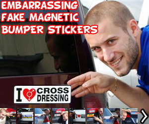 Fake Magnetic Bumper Stickers